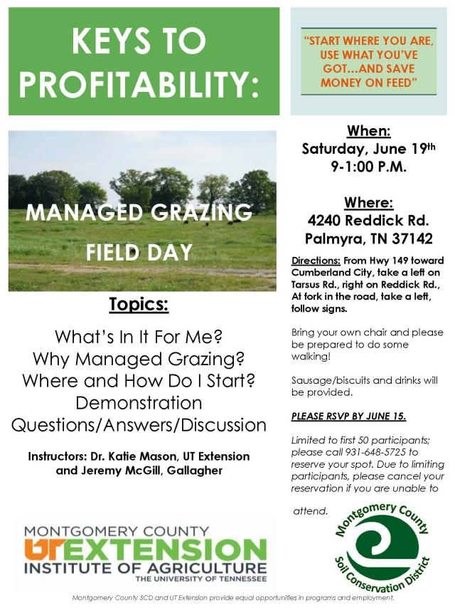 Grazing Field Day Flyer - 6-19-21